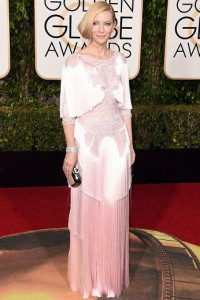 Best dressed at the Golden Globes 2016 Cate Blanchett in Givenchy Haute Couture by Riccardo Tisci