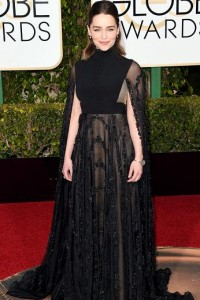 Best dressed at the Golden Globes 2016 Emilia Clarke in Valentino