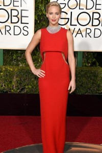Best dressed at the Golden Globes 2016 Jennifer Lawrence in Dior