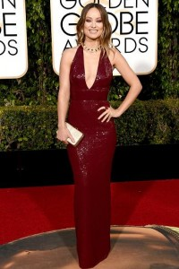 Best dressed at the Golden Globes 2016 Olivia Wilde in Michael Cors Collection