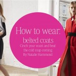 How to wear belted coats